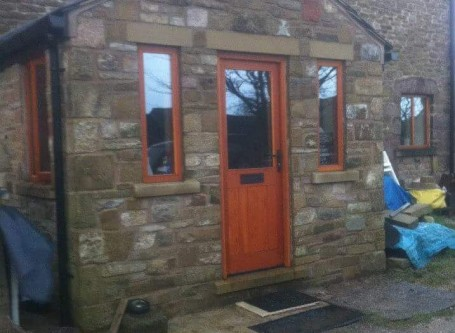 Natural Stone Porch build, Dove Holes, Buxton