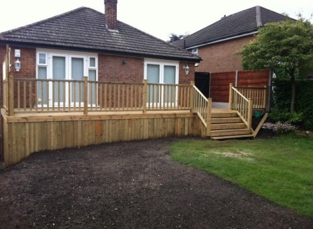 Raised Decking builders in the high peak
