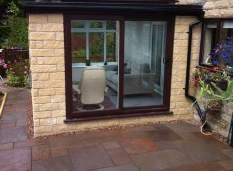 Conservatory build in Buxton