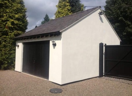 Double Garage Build, Henbury, Macclesfield