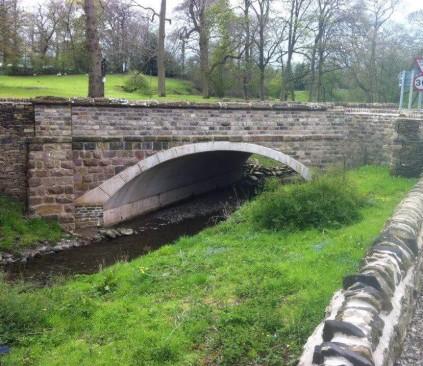 Masonry work stone road bridge - Sutton Macclesfield