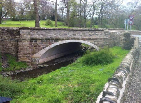 Masonry work stone road bridge - Sutton Macclesfield